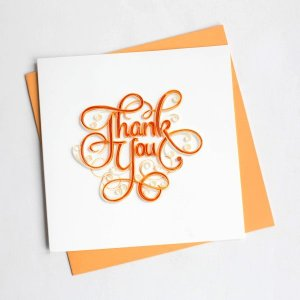 Quilling Card(クイリングカード) サンキューカード Thank You letter サンキューレター|clubestashop