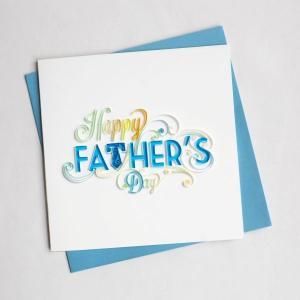 Quilling Card(クイリングカード) グリーティングカード Happy Father's Day お父さん、いつもありがとう|clubestashop