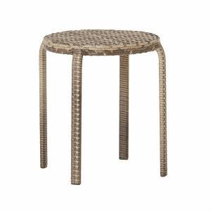 PATIO PETITE(パティオプティ) SAHARA サハラ・ウーノ 丸椅子 屋外用家具 ガーデンチェア 人工ラタン ガーデンチェアー スタッキングチェア 丸いす スツール|clubestashop