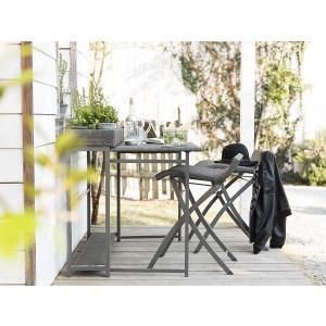 PATIO PETITE(パティオプティ) フィオーレ・ラタン・テーブル プランター台付 折りたたみ式テーブル 屋外家具|clubestashop|05