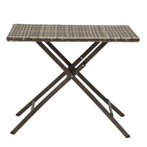 PATIO PETITE(パティオプティ) SAHARA サハラ・スクエアテーブル 折りたたみ式テーブル 屋外用家具 ガーデンテーブル 折りたたみ テーブル カフェテーブル|clubestashop