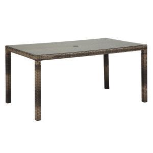 PATIO PETITE(パティオプティ) SAHARA サハラ・ダイニング・6人掛け(ガラス天板付) テーブル 屋外用家具|clubestashop