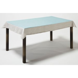 BORGO DELLE TOVAGLIE(ボルゴ) テーブルクロス レクタングル ライトブルー 116×176|clubestashop