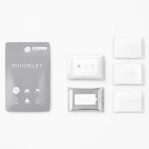 杉田エース ACE minimLET ミニムレット 簡易トイレ用付属品セット (凝固剤、排便袋、持ち運び袋、ポケットティッシュ、ウエットティッシュ)|clubestashop