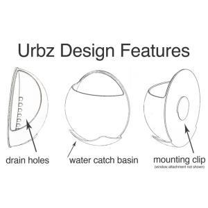 URBZ(アーブス) 壁に貼るプランター クリア/ホワイト/グリーン/ピンク clubestashop 04