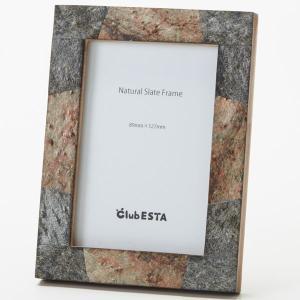 clubESTA Original フォトフレーム 写真立て ナチュラルスレートフレーム S L判|clubestashop