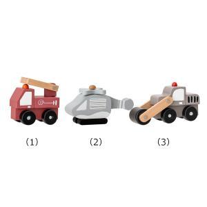Bloomingville MINI(ブルーミングヴィルミニ) ミニカーセット 3個セット おもちゃ 木製 ミニカー セット 車のおもちゃ かわいい|clubestashop