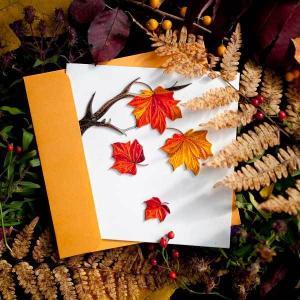 Quilling Card(クイリングカード)グリーティングカード[Autumn Leave]【紅葉 クイリング ペーパー 秋 ペーパークイリング】 clubestashop 03