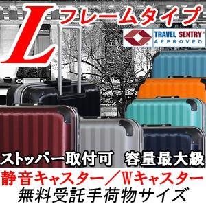 スーツケース 大型 軽量 ストッパー可 サイレントキャスター ダブルキャスター フレームタイプ TSAロック キャリーバッグ キャリーケース