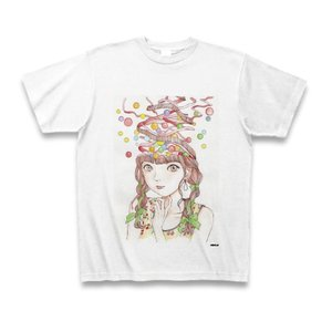 駕籠真太郎 作品No.009 Tシャツ(ホワイト)|clubtstore