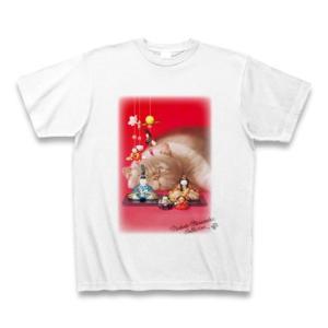 村松誠 ビッグコミックオリジナル2016年3月5日号「雛人形と猫 」Tシャツ(ホワイト)|clubtstore