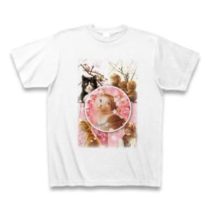 村松誠 ビッグコミックオリジナル2016年4月5日号「桜と猫」Tシャツ(ホワイト)|clubtstore