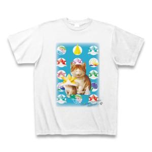 村松誠 ビッグコミックオリジナル2016年5月5日号「折り紙と猫」Tシャツ(ホワイト)|clubtstore