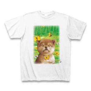 村松誠 ビッグコミックオリジナル2016年5月20日号「蝶と子犬」Tシャツ(ホワイト)|clubtstore