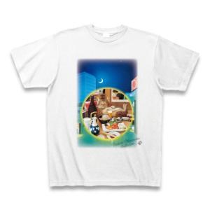 村松誠 ビッグコミックオリジナル2016年6月5日号「猫と居酒屋」Tシャツ(ホワイト)|clubtstore