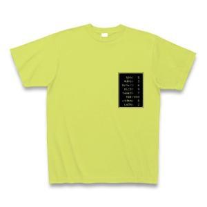 「ステータス やる気999」小 Tシャツ(ライトグリーン)