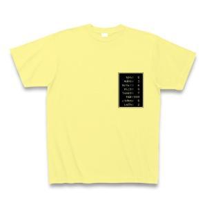「ステータス やる気999」小 Tシャツ(ライトイエロー)