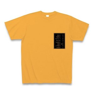 「ステータス やる気999」小 Tシャツ(コーラルオレンジ)