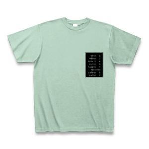 「ステータス やる気999」小 Tシャツ(アイスグリーン)