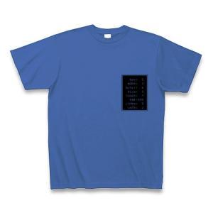 「ステータス やる気999」小 Tシャツ(ミディアムブルー)