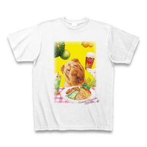 村松誠 ビッグコミックオリジナル2016年7月20日号「夏の食べ物と犬」Tシャツ(ホワイト)|clubtstore