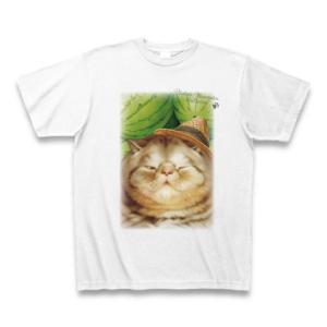 村松誠 ビッグコミックオリジナル2016年9月5日号「猫と西瓜」 Tシャツ(ホワイト)|clubtstore
