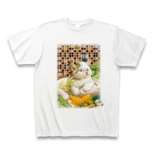 村松誠 ビッグコミックオリジナル2016年10月5日号「仔猫と野菜」Tシャツ(ホワイト)|clubtstore