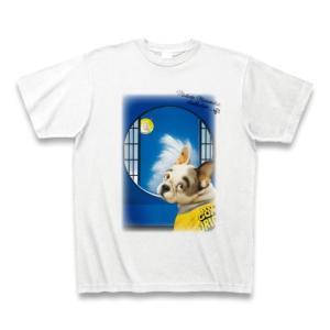 村松誠 ビッグコミックオリジナル2016年10月20日号「犬と月見」Tシャツ(ホワイト)|clubtstore
