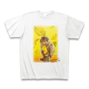 村松誠 ビッグコミックオリジナル2016年11月5日号「落葉と猫」Tシャツ(ホワイト)|clubtstore