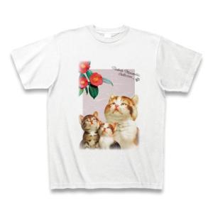 村松誠 ビッグコミックオリジナル2016年12月5日号「猫と椿」Tシャツ(ホワイト)|clubtstore
