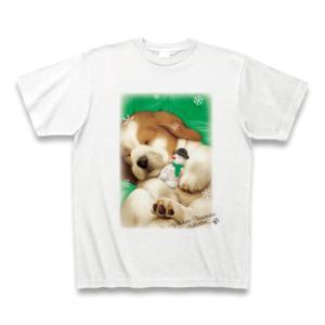 村松誠 ビッグコミックオリジナル2016年12月20日号「犬と雪だるま」Tシャツ(ホワイト)|clubtstore