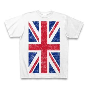 ユニオンジャック(ダメージ) Tシャツ(ホワイト)