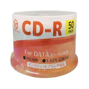 ☆VERTEX CD-R(Data) 1回記録用 700MB 1-52倍速 50Pスピンドルケース50P インクジェットプリンタ対応(ホワイト) CDRD80VX.50S|cnf3