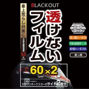 【ウインドーフィルム】 YAC(ヤック) 透けない真っ黒フィルム 600×2m [DF-476] cnf