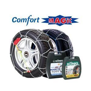 コーニック 高性能タイヤチェーン Comfort MAGIC コンフォートマジック  CM-040|cnf