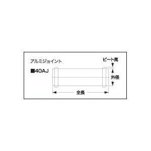 Samco サムコ 汎用アイテム アルミジョイント L=80mm ビード高=2mm 外径22mm 40AJ22|cnf