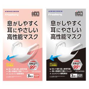KB SEIREN(KBセーレン) Freshery 息がしやすく 耳にやさしい 高性能マスク 3枚入り 洗える 極薄 メルトブロー不織布 ウレタン 日本製  メール便対応 cntr