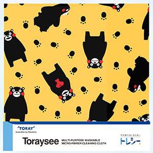 メガネ拭き TORAY 東レ Toraysee トレシー くまモン 19×19cm 全3色【メール便対応】|cntr