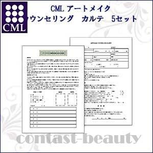 CML 小物・練習用品 アートメイク カウンセリング カルテ 5セット|co-beauty