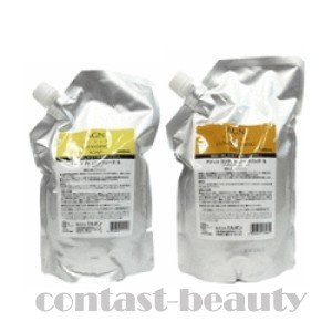 アジィン 詰替セットクレンジングソープS 1L & コンディショニングパック 1L ミルボン アジィン|co-beauty