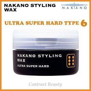 【x4個セット】 ナカノ スタイリング ワックス 6 ウルトラスーパーハード 90g ≪ナカノスタイリングワックス2002≫|co-beauty