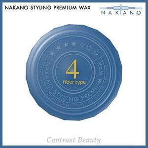 【x4個セット】 ナカノ スタイリング プレミアム ワックス 4(ファイバータイプ) ハードタイプ 60g ≪ナカノプレミアムワックス≫|co-beauty