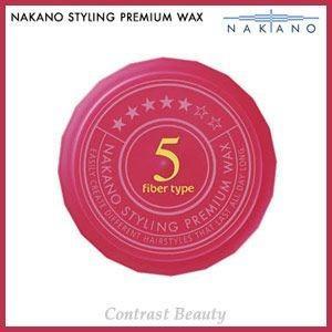【x5個セット】 ナカノ スタイリング プレミアム ワックス 5(ファイバータイプ) スーパーハード 60g ≪ナカノプレミアムワックス≫|co-beauty