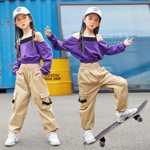 キッズダンス衣装 ヒップホップ HIPHOP チアガール セットアップ チア パンツ ズボン 子供 女の子 ガールズ ジャズダンス ステージ衣装 練習着 co-tyiya