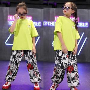 キッズダンス衣装 ヒップホップ キッズ ダンス衣装 子供 ダンス 男の子 女の子 シャツ キッズダンス 衣装 花柄 ガールズ ダンス衣装キッズ  Tシャツ co-tyiya