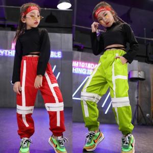 キッズ ダンス衣装 ヒップホップ 子供 HIPHOP  女の子 ダンストップス Tシャツ パンツ ジャズダンス 体操服 ステージ衣装 練習着 ダンス 衣装 co-tyiya