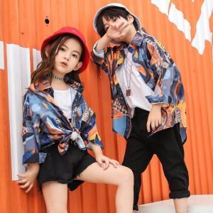 キッズ ダンス 衣装 HIPHOP チェック柄 Tシャツ パンツ ヒップホップ ジャズ セットアップ 子供 ダンス衣装 ジュニア 演出服 大量注文対応 団体注文 19llt06|co-tyiya
