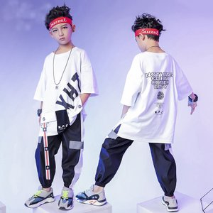 半袖 グリーンTシャツ サルエルパンツ ヒップホップ チア衣装 HIPHOP 子供 男の子 女の子 キッズダンス ジャズダンス ステージ衣装 練習着 co-tyiya