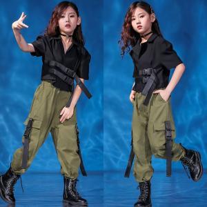 キッズダンス衣装 セットアップ ダンス衣装 キッズ 韓国 ヒップホップダンス衣装 パンツ キッズ ダンス 衣装 ガールズ チアガール HIPHOPダンス衣装|co-tyiya