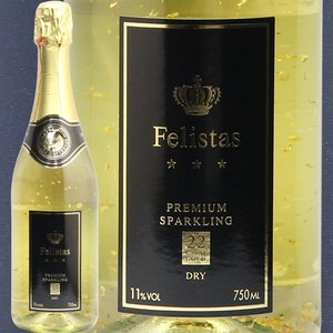 ワイン スパークリング フェリスタス Felistas 金箔入り プレミアム ワイン ドライ 22カ...